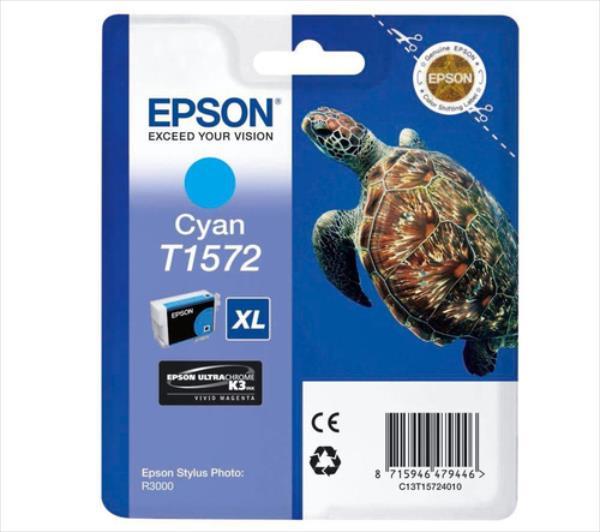 Epson T1572 Cyan | 25,9 ml | R3000 kārtridžs