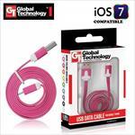 GT Flat ios7 USB Lightning 8pin Cable 1m for iPhone 5 5S iPad 4 / mini kabelis
