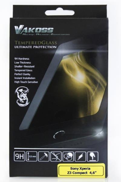 VAKOSS Tempered Glass for Sony Xperia Z3 Compact 4,6'', 9H aizsargplēve ekrānam