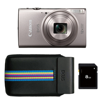 Canon IXUS 285 HS Kit (camera, 8Gb memory card, case) Compact camera, 20.2 MP, Optical zoom 12 x, Digital zoom 4 x, Image stabilizer, ISO 32 Digitālā kamera