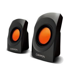 Multimedia - Speaker CANYON CNR-SP20JB (Stereo, 4W, 130Hz-16kHz, Black) datoru skaļruņi