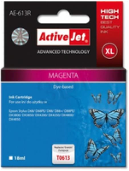 ActiveJet AE-613R | Magenta | 18 ml | Epson T0613 kārtridžs