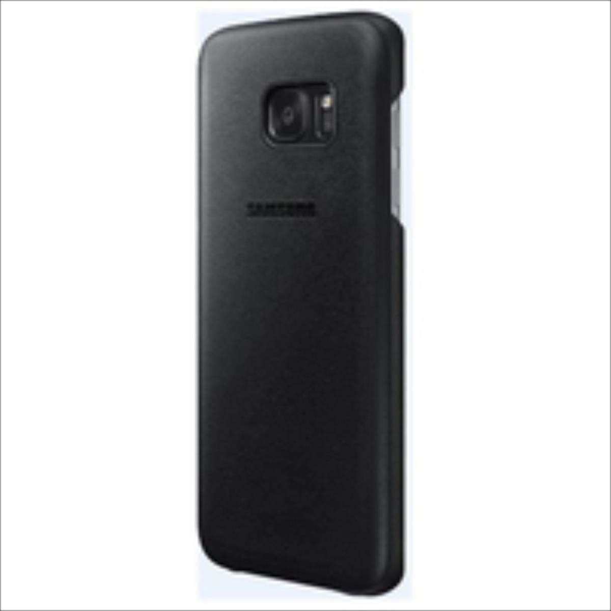 Samsung Leather Case S7 Edge Black maciņš, apvalks mobilajam telefonam
