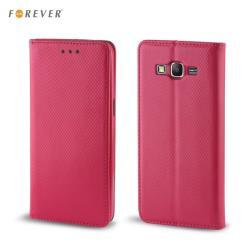 Forever Magnēstikas Fiksācijas Sāniski atverams maks bez klipša Samsung J100H Galaxy J1 Rozā maciņš, apvalks