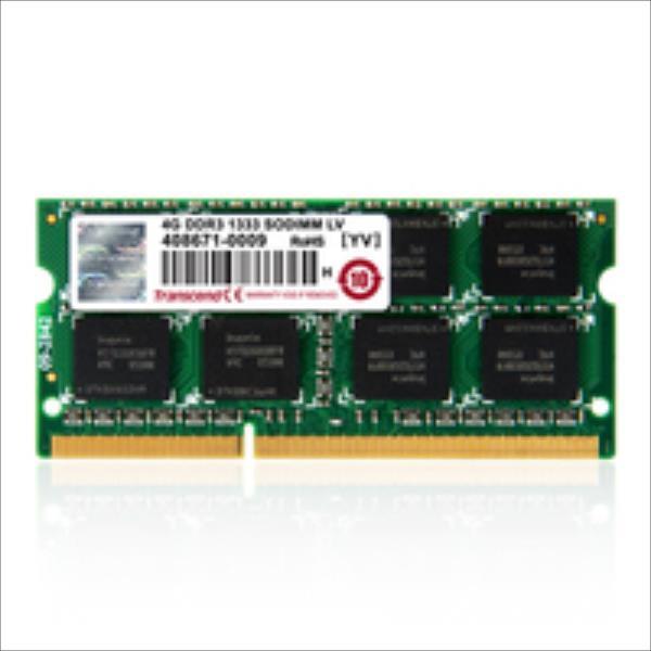 Transcend 8GB 1600MHz DDR3 CL11 SODIMM 2Rx8 operatīvā atmiņa