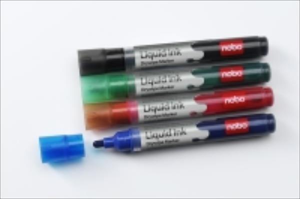 NOBO Markers Liquid Ink, mix colours, 6 pcs. aksesuārs portatīvajiem datoriem