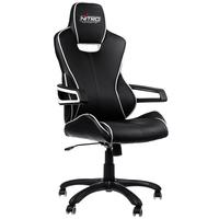 Nitro Concepts E200 Race fotel gamingowy - Black-White datorkrēsls, spēļukrēsls