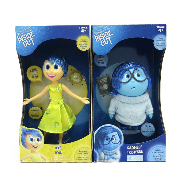 Disney Pixar Inside Out Joy Large Figure Doll With Sound bērnu rotaļlieta