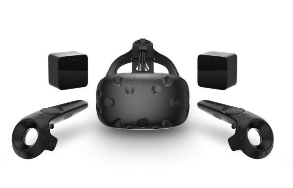HTC Vive Virtual Reality Headset inkl. 2x Motion Controller und 2x Tracker TV aksesuāri