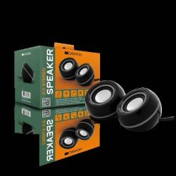 CANYON FSP01 Stereo, 6W USB Black/Silver datoru skaļruņi