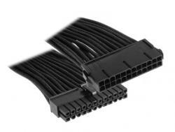 BitFenix 24-Pin ATX Verlangerung 30cm - sleeved black kabelis, vads