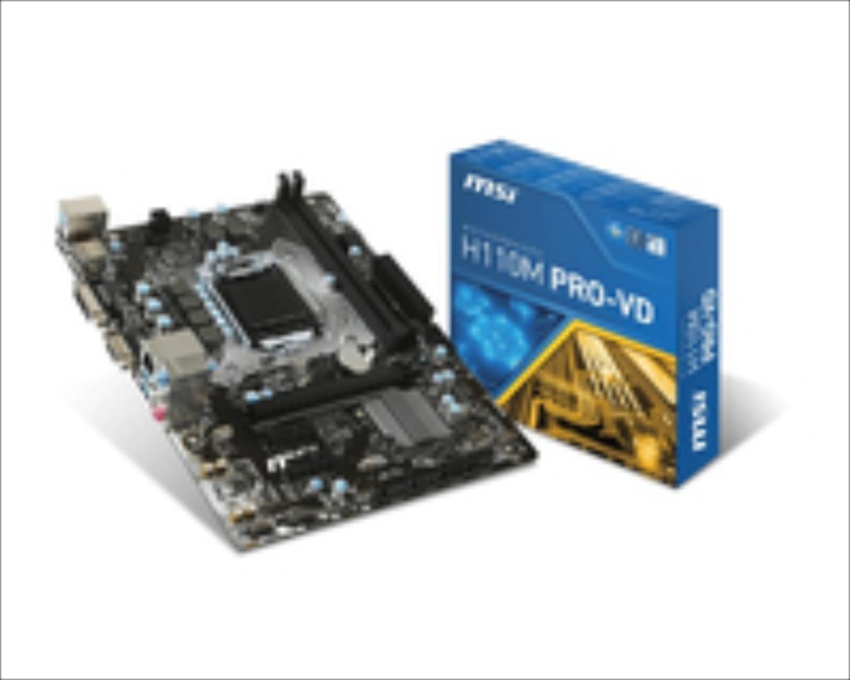 MSI H110M Pro-VD, Intel H110 Mainboard - Socket 1151 pamatplate, mātesplate