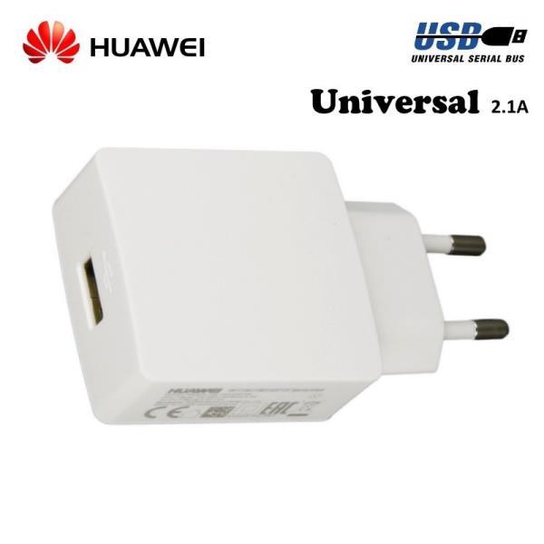 Huawei HW-050200E3W Universāls USB ligzdas Lādētājs 2A telefoniem un planšetdatoreim Balts (OEM) aksesuārs mobilajiem telefoniem
