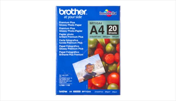 Brother 20 sheets glossy A4 foto papīrs