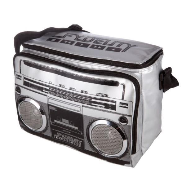 Fydelity Jambox Coolio Termo Soma ar pleca siksnu un Skaļruņiem (35х24х20cm) Sudraba portatīvo datoru soma, apvalks