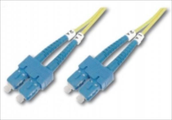 DIGITUS Fiber Optic Patch Cord, duplex SM 9/125 SC / SC 3m kabelis