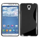 Telone Back Case S-Case gumijots telefona apvalks Samsung N750 Note 3 Neo Melns aksesuārs mobilajiem telefoniem