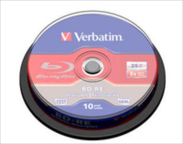 BluRay BD-RE SINGLE LAYER Verbatim [ Spindle 10 | 25GB | 2x matricas