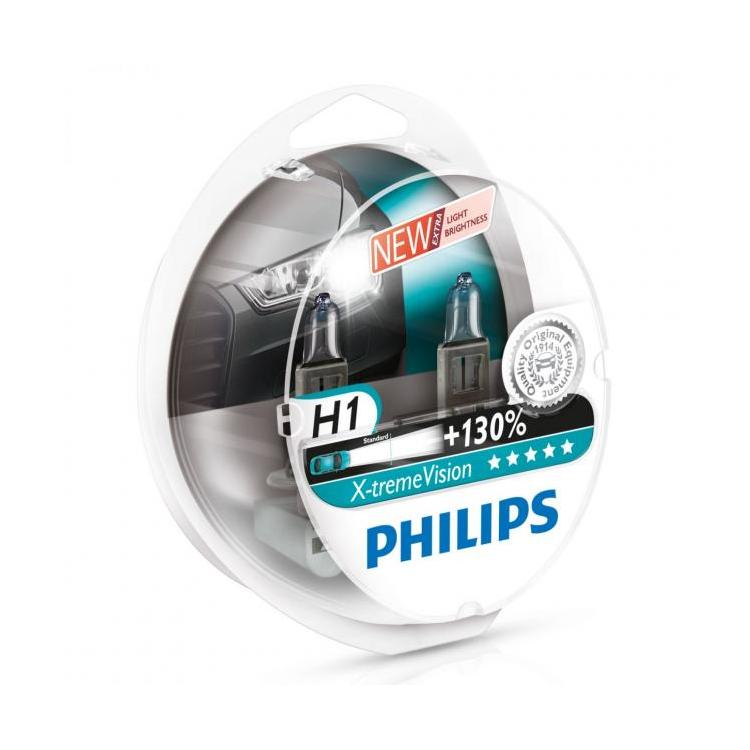 Philips H1  X-treme Vision +130   (2pc) auto spuldze