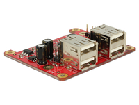 Raspberry Erweiterung Delock USB micro B -> 4x USB +2x 9pin Raspberry PI datora daļas