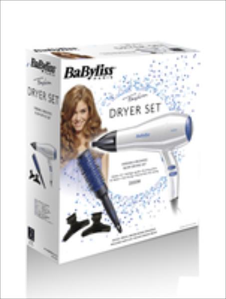 Dryer Babyliss D413PE (2000W/white-Blue) Matu fēns