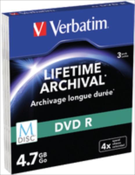 Verbatim M-Disc 43826 DVD R 4.7GB 1x3 4x Speed Slim Case matricas