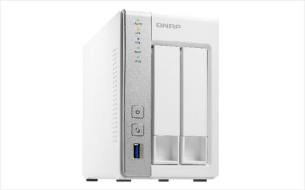 NAS QNAP TS-231P  1GB/1.7GHz 2-Bay 2x 1GbE 3x USB3.0 Ārējais cietais disks
