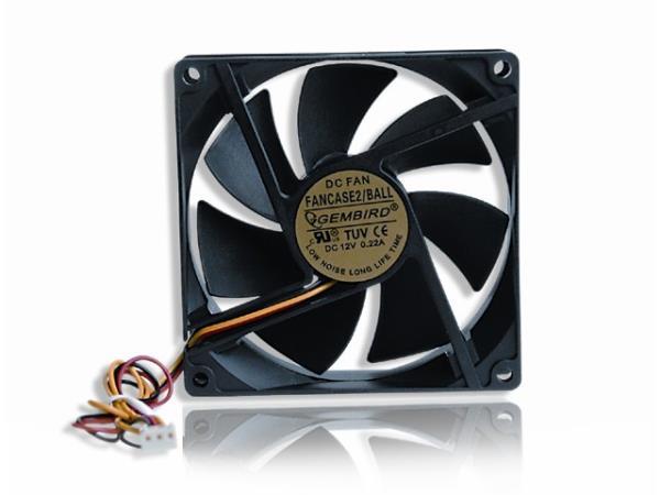 Gembird Fan for PC case ball bearing 90x90x25mm dzesētājs, ventilators