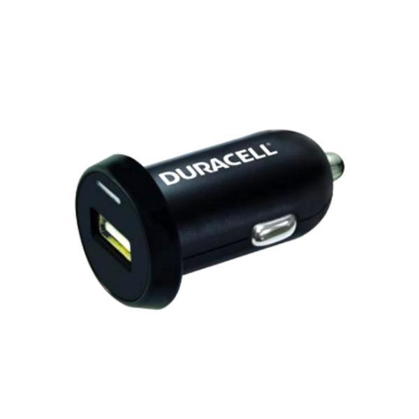 Duracell Universāls 2.4A Vienas USB Ligzdas Auto 12V-24V DC 5V Lādētājs Telefonam / Planšetdatoram Melns iekārtas lādētājs