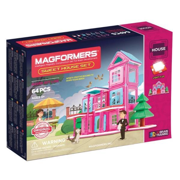 MAGFORMERS Sweet House set 64P konstruktors