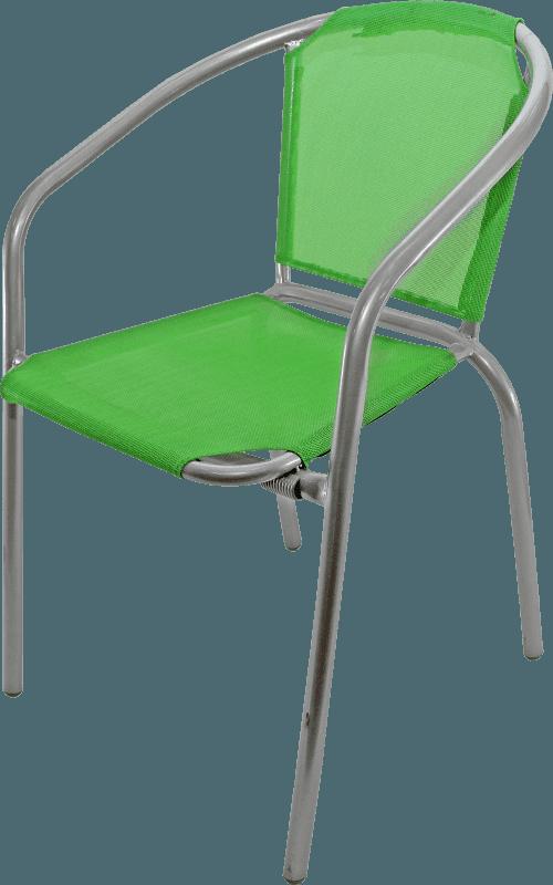 Krēsls metāla ar audumu zaļa krāsa 54x56x73 Dārza mēbeles