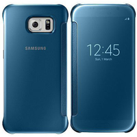 Samsung Clear View Cove Galaxy S6 BLUE maciņš, apvalks mobilajam telefonam