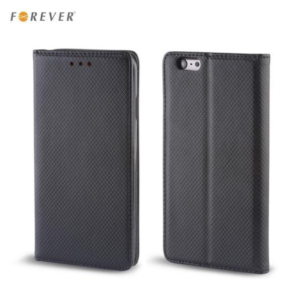 Forever Magnēstikas Fiksācijas Sāniski atverams maks bez klipša Samsung A710 Galaxy A7 Melns aksesuārs mobilajiem telefoniem
