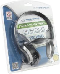 ESPERANZA Audio Stereo Headphones with volume control TECHNO EH145K | 3m austiņas