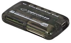 ESPERANZA Card Reader All in One EA117 USB 2.0 karšu lasītājs