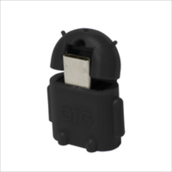 LOGILINK - USB OTG Adapter, black aksesuārs mobilajiem telefoniem