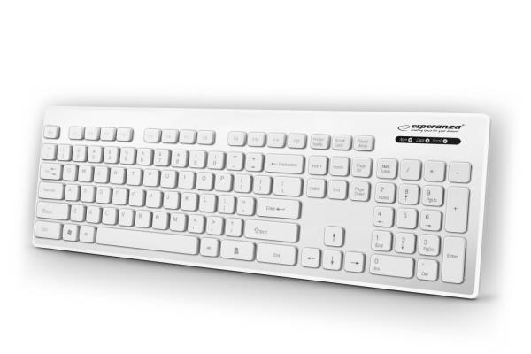 Esperanza WATERPROOF WIRED USB KEYBOARD SINGAPORE WHITE klaviatūra