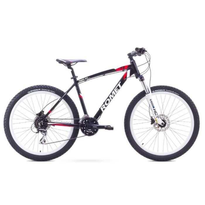 ROMET RAMBLER 26 4 MTB 20-L R26 MELNS/SARKANS kalnu velosipēds MTB