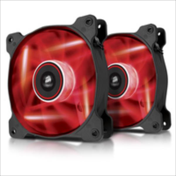 Corsair AF120 High Airflow Fan 120 mm 3 pin red LED dual pack dzesētājs, ventilators