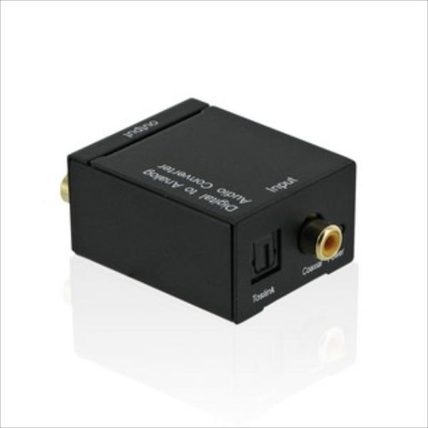 4World Converter Audio Digital or Toslink Audio to analog R/L Audio adapteris