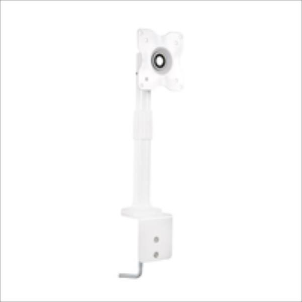 4World Desk Mount for LCD 10-25'' tilt/swivel/height-adjustable load 15kg WHT TV stiprinājums
