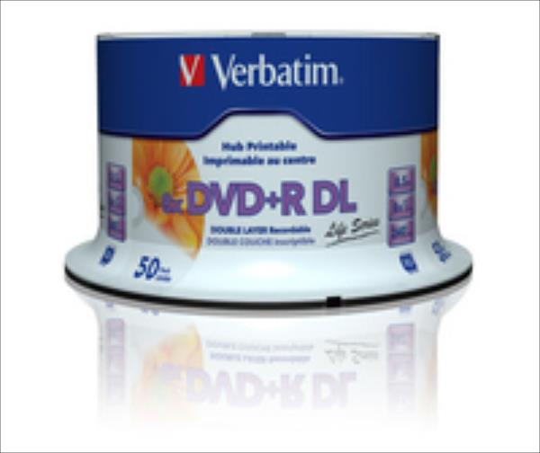 DVD+R DL Verbatim [ spindle 50 | 8,5GB | 8x | WIDE PRINTABLE SURFACE matricas
