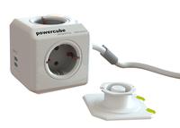 Mehrfachsteckdose PowerCube mit 2 USB Kaltgerate Schuko elektrības pagarinātājs