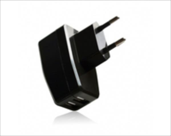 VAKOSS USB Charger 2xUSB, 2,1A, AC 100~240V TP-1869UK black iekārtas lādētājs