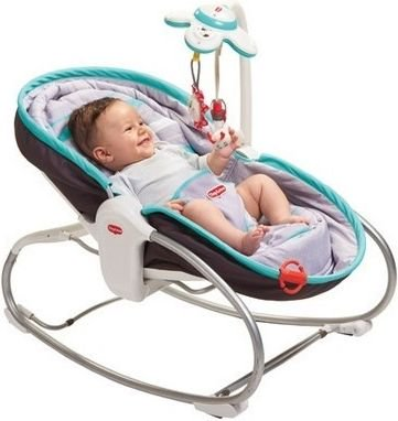 Tiny Love Baby Walker, 3 in 1 turquoise cot (TL000282) šūpuļkrēsls