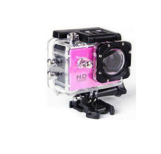 F60 4K 30fps 16MP WiFi 30m Waterproof  pink on black sporta kamera