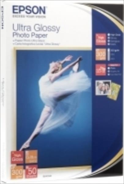 Epson Ultra Glossy Photo | 300g | 13x18 | 50sheets foto papīrs