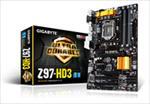 Gigabyte  Z97 S1150 ATX/GA-Z97-HD3 pamatplate, mātesplate