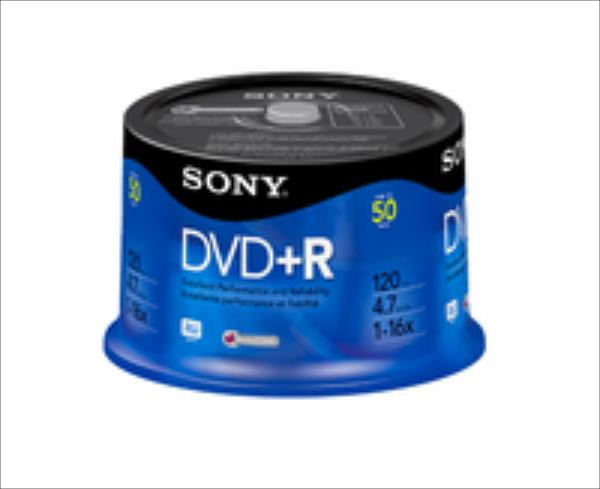 Sony DVD+R 4,7 GB | 16x [bulk 50 pcs] matricas