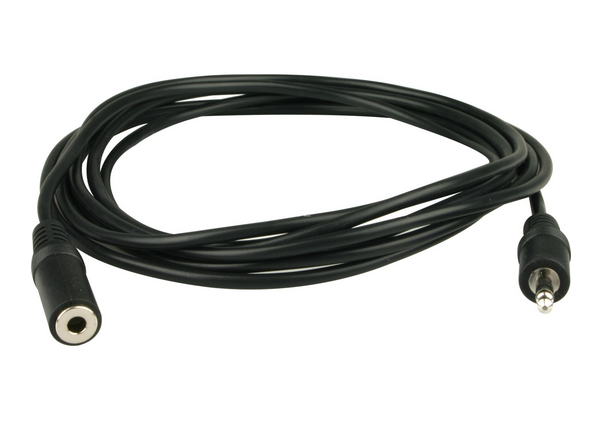 OEM Mini Jack stereo 3.5 mm- 3.5 mm stereo coupling 3 m, black, extension cable kabelis, vads